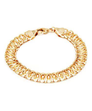 Loving this Gold Link Chain Bracelet on #zulily! #zulilyfinds