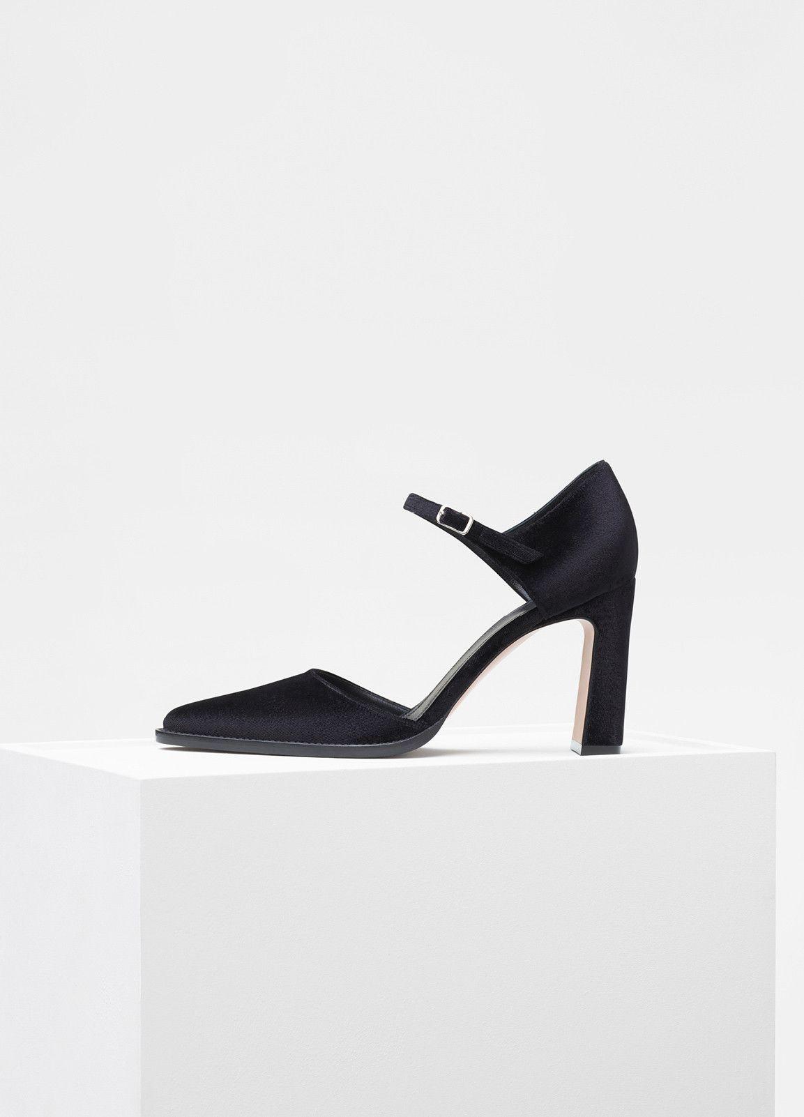 1d2050a8031c New Straight Heel Pump in Velvet - Céline