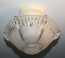Antique 10 Inch Frosted Glass Art Deco Light Fixture Ceiling Chandelier Art Deco Light Fixture Art Deco Lighting Ceiling Chandelier