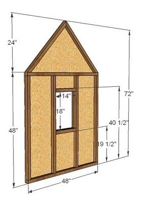 Build a Simple Playhouse - Gable End Walls | Simple ... on build a garage plans, build a house floor plan, build a cabin, build a free map,