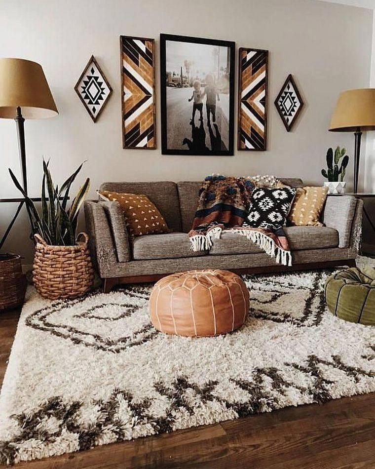 Include Woodsy Lodge Contacts Bunches Of Knotty Wood Uncovered Bars Interwoven Boho Living Room Inspiration Bohemian Living Room Decor Colourful Living Room
