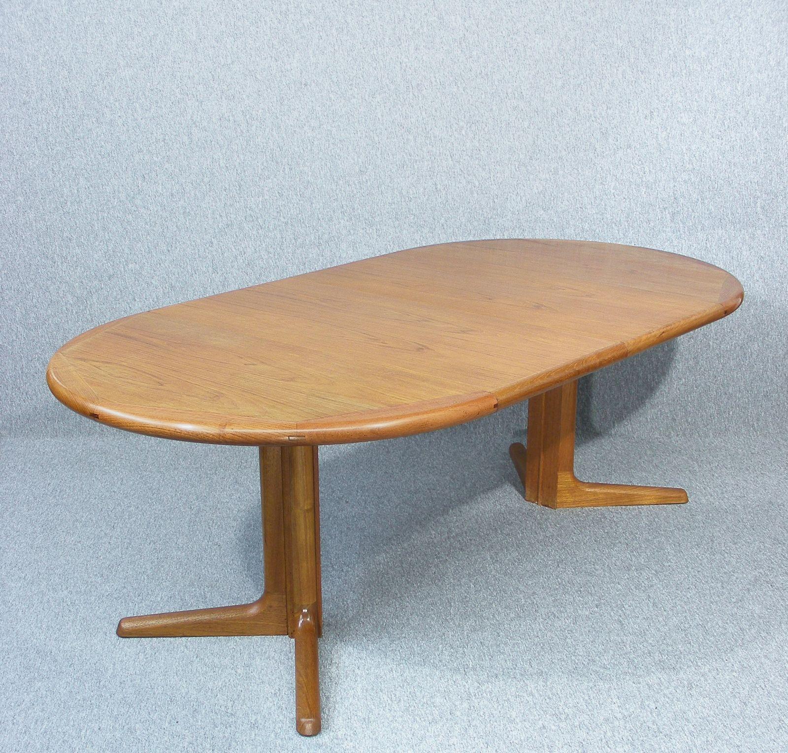 Fully restored mid century Danish Dyrlund teak dining table