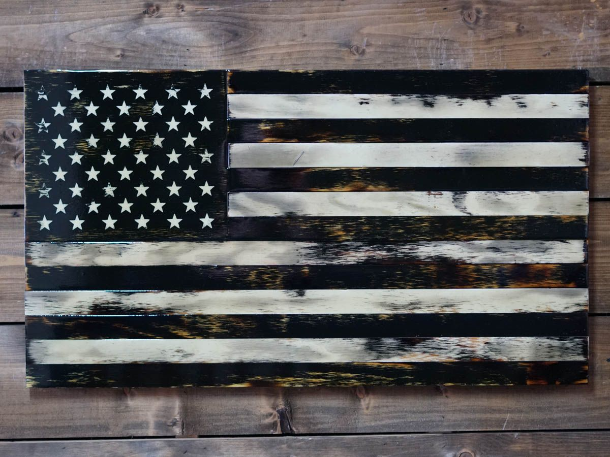 Handmade American Rustic Wooden Flags Veteran Made Woodworks In