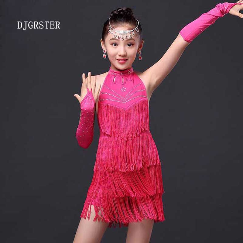 1847f9d65 New 2017 Junior tassels Fringe Latin Salsa Dresses Children Girls ...