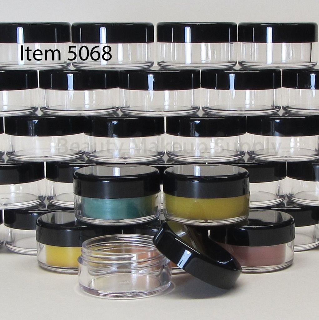Cosmetic Jars Plastic Beauty Containers 10 Gram Black Cap Sku 5068 With Images Cosmetic Jars Cosmetics Wholesale