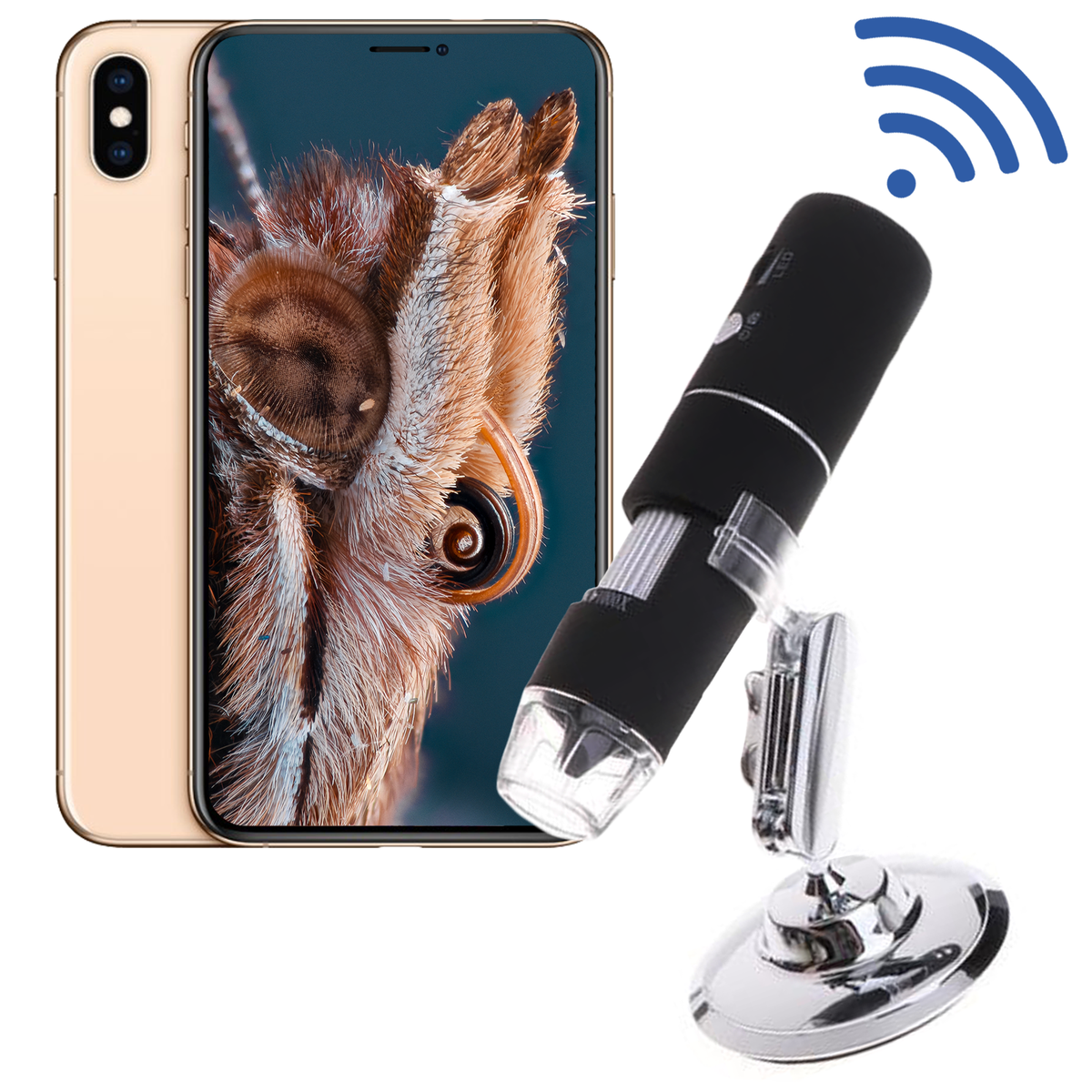 Wireless 1080p Microscope Camera Computer chip, Camera