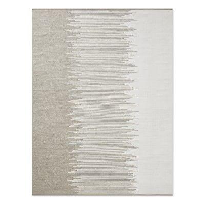 Perennials Ikat Stripe Indoor/Outdoor Rug, 6x9\', Flax | Indoor ...