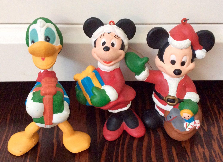Vintage Blow Mold Disney Characters Ornaments Vintage Disney Christmas Ornaments Donald Disney Characters Ornaments Duck Ornaments Disney Christmas Ornaments
