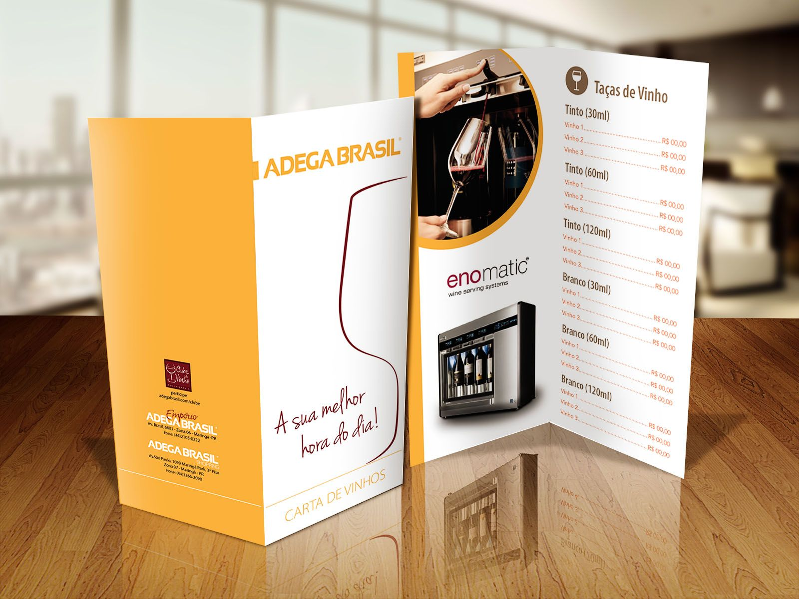 Carta de vinhos - Adega Brasil.
