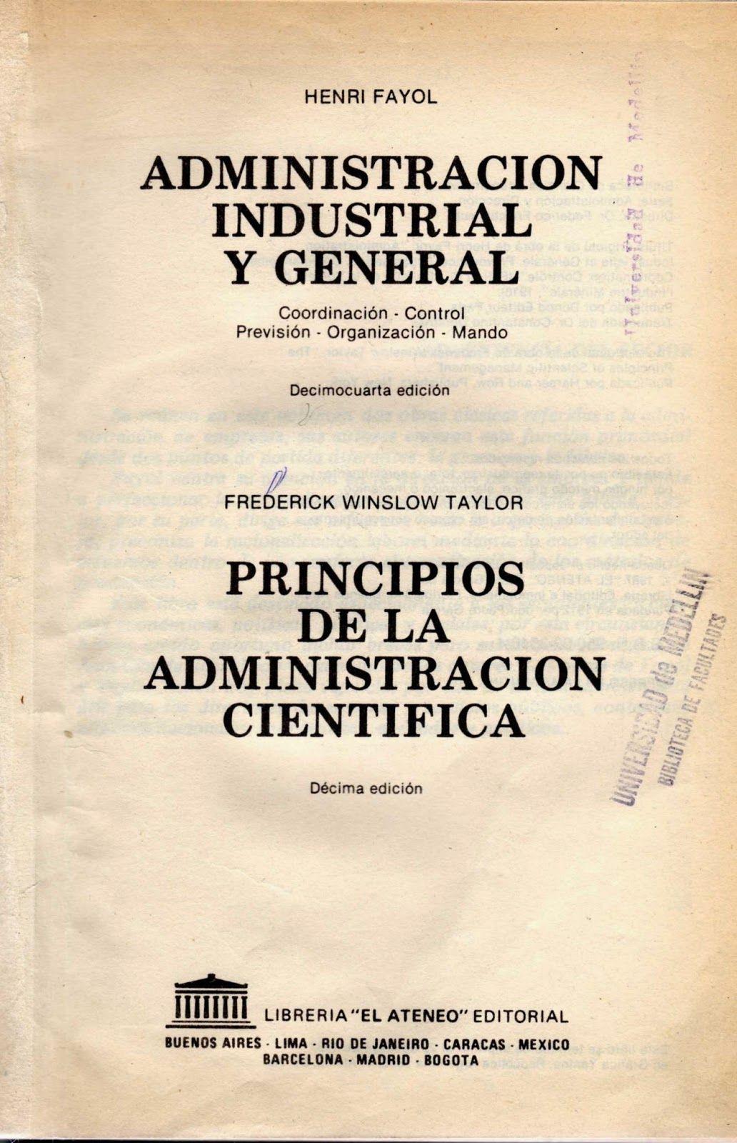 libros para descargar Gratis : Henry Fayol Administración Industrial ...