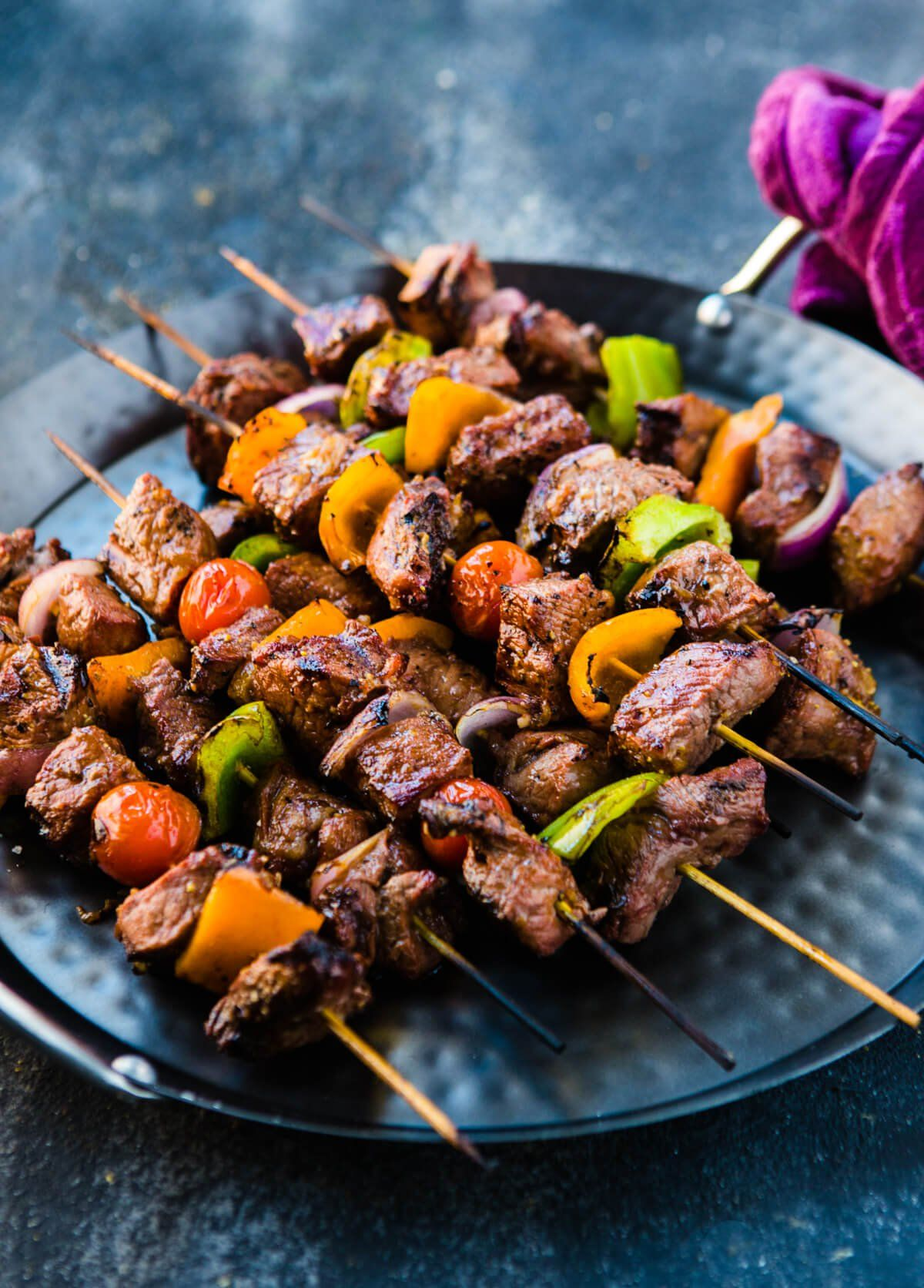 Heat Up The Grill This Weekend For These Flavorful Marinated Beef Shish Kabobs They Take Less Than 30 Minutes Fo Beef Shish Kabob Kabob Recipes Marinated Beef