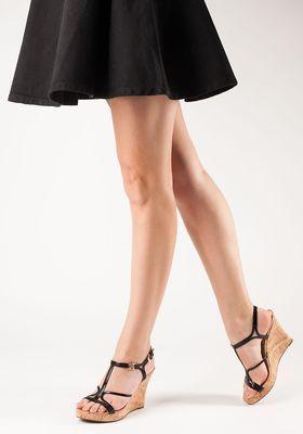 c9fed5a5a0b MICHAEL Michael Kors - Cicely Wedge Sandal Black Patent