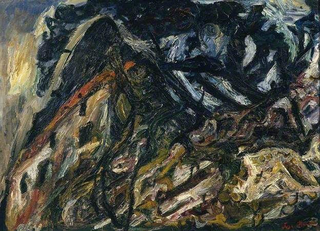 Chaim Soutine Landscape At Ceret Paysage A Ceret Chaim Soutine Ceret Holiday Painting