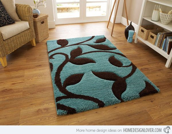 20 Fluffy And Stylish Shag Rugs Teal Living Rooms Brown Rug Decor