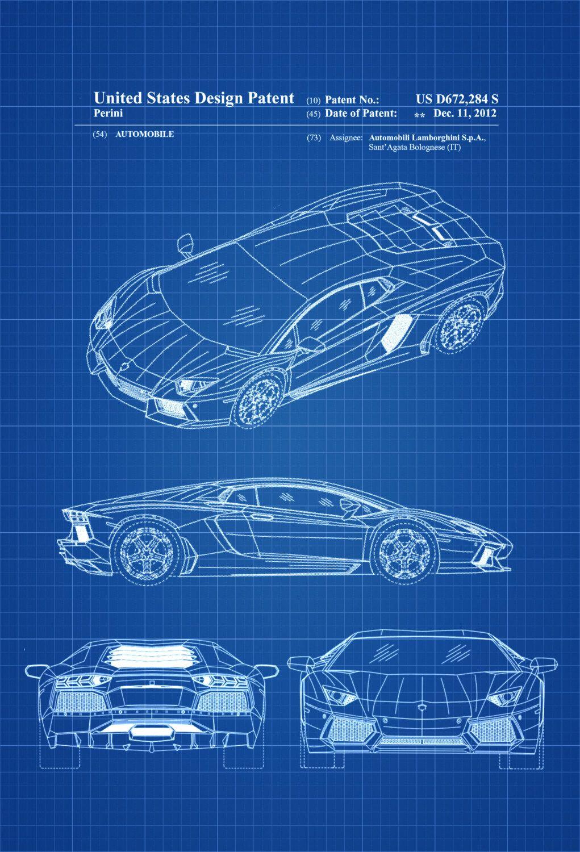New to PatentsAsPrints on Etsy: Lamborghini Patent - Patent Print ...