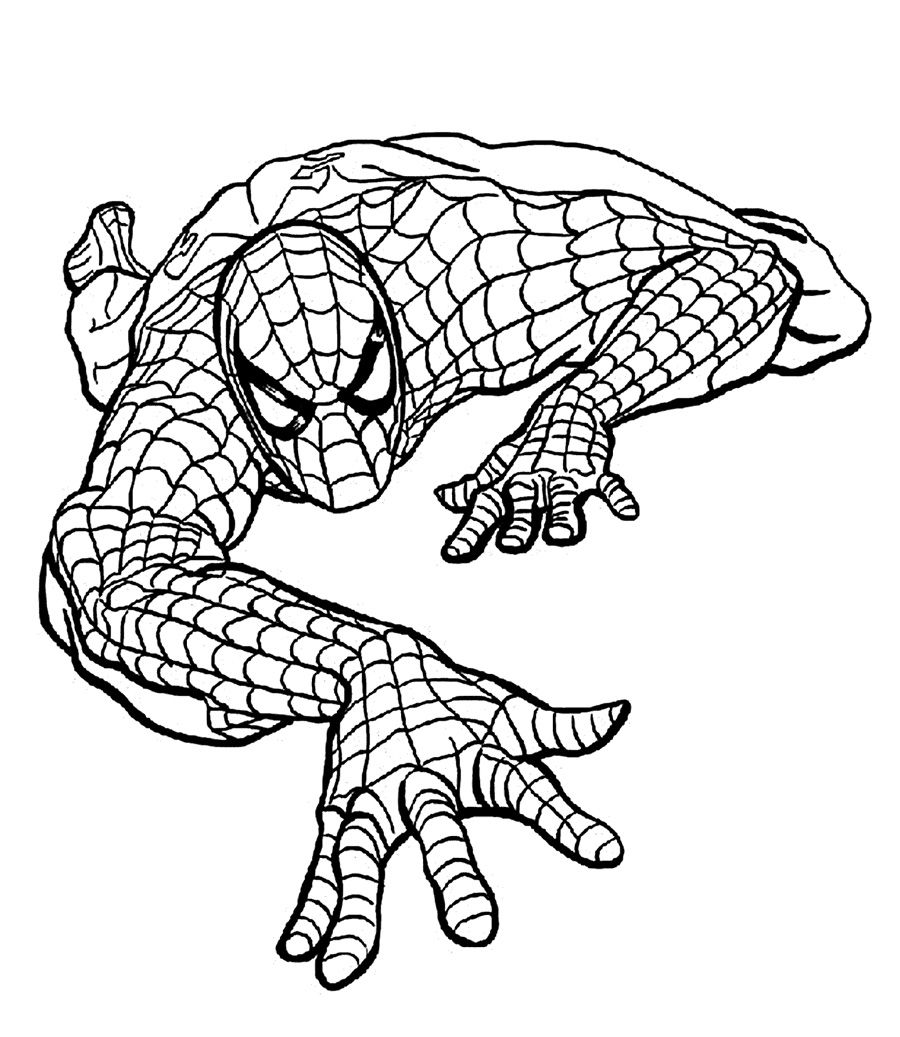 Top 20 Spiderman Coloring Pages Printable http://procoloring.com ...