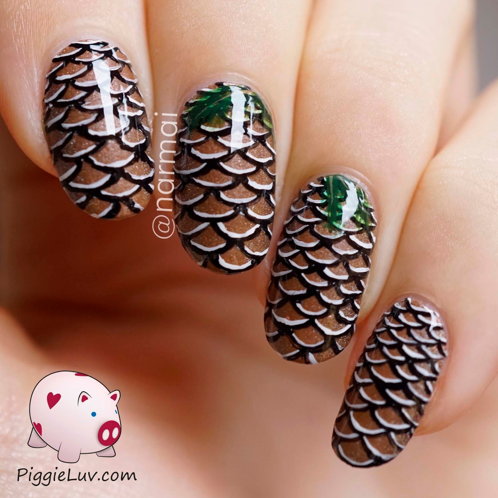 Pine cone nail art video tutorial pine cone pine and tutorials nail art videos prinsesfo Images