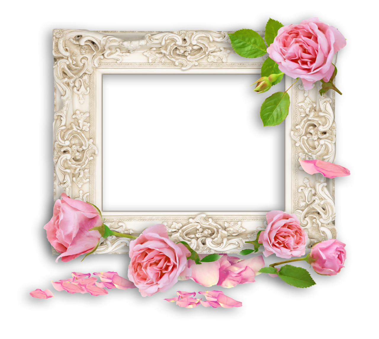Vintage White Photo Frame With Pink 1280 1146