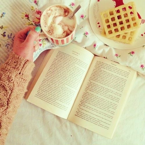 Books and waffles. Life doesn't get better than that!