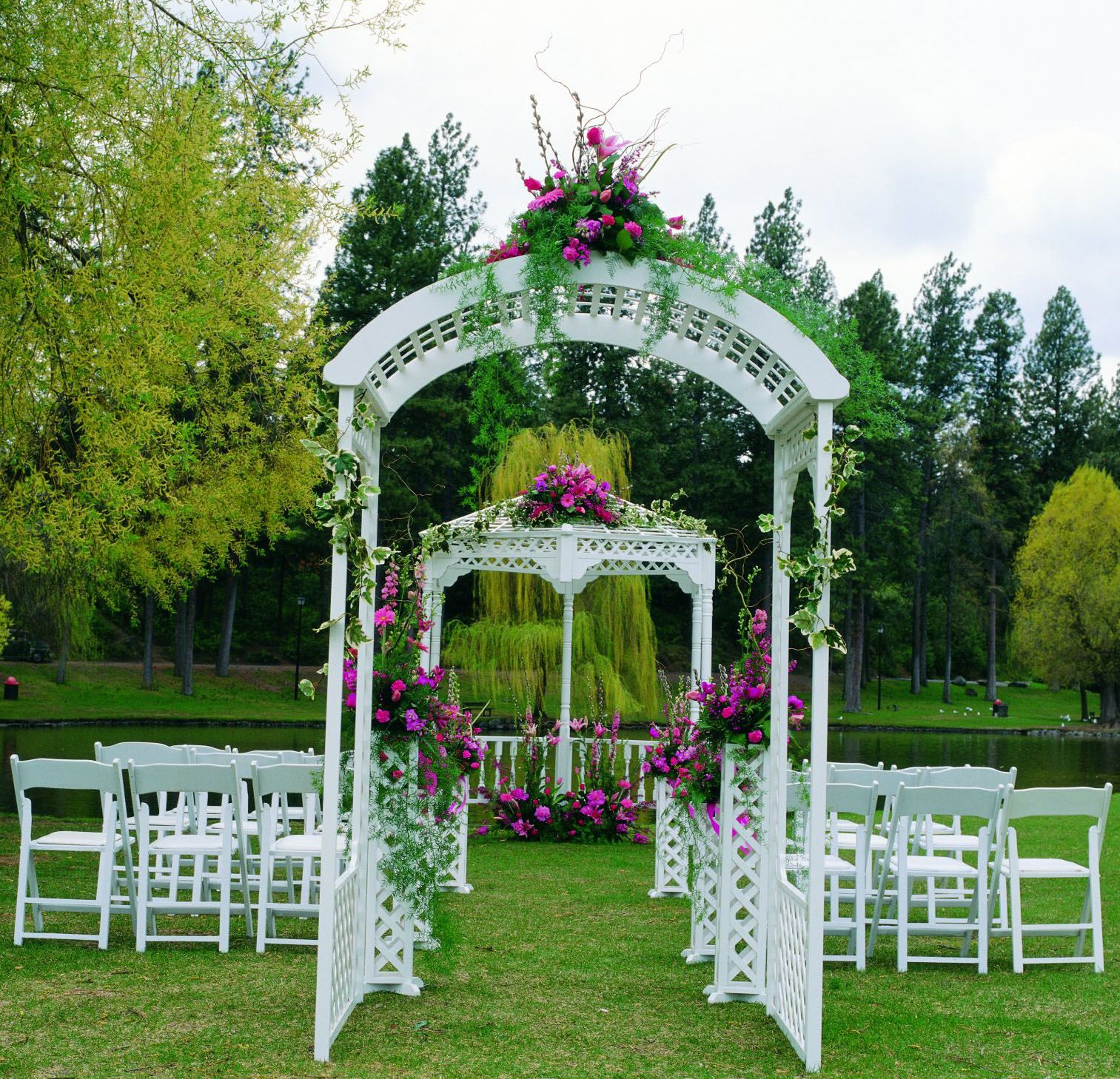 decorating ideas for outside wedding ceremony%0A Decorating Wedding Arches Columns   Arches  Gazebos  Pipe and Drape  and  Ceiling Decor