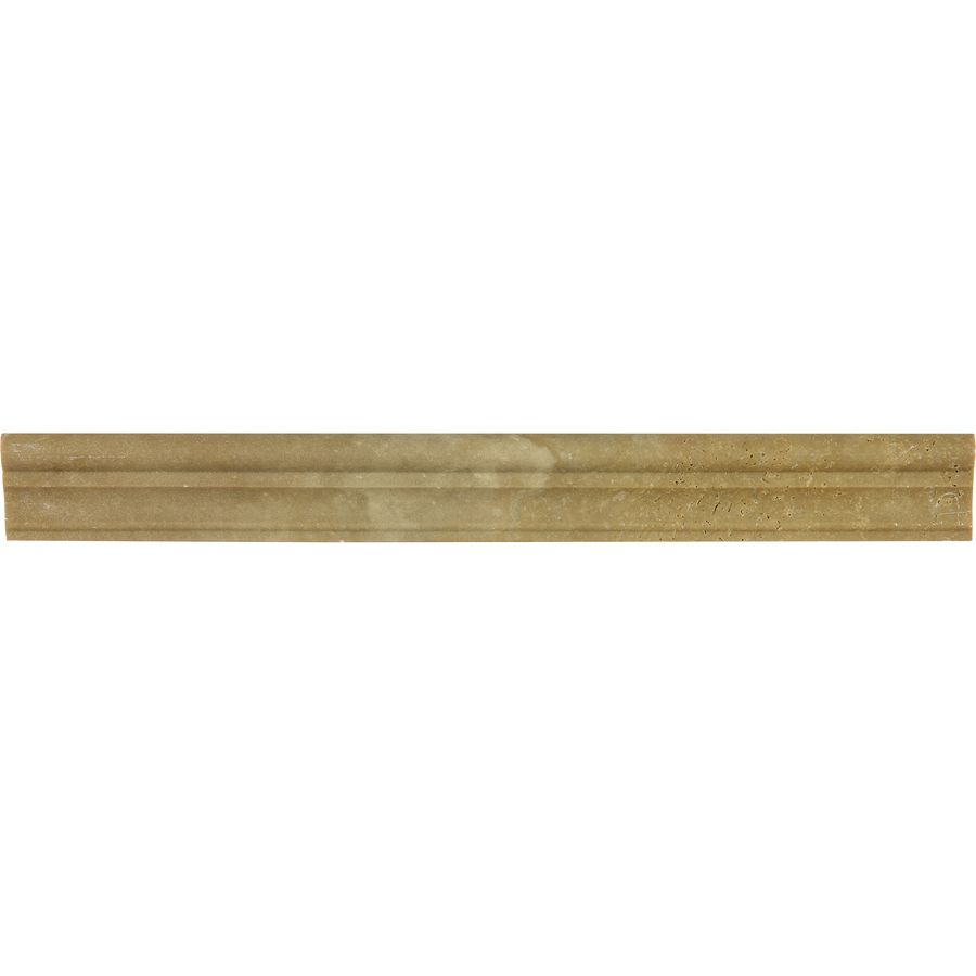 Anatolia Tile Noce Travertine Chair Rail Tile (Common: 1-1