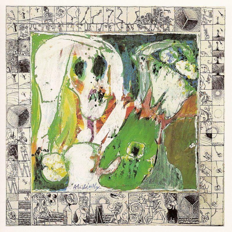 """Piere Alechinsky  """"La Jeune Fille et la Mort"""" [The Young GIrl and Death] (1966-1967)"""