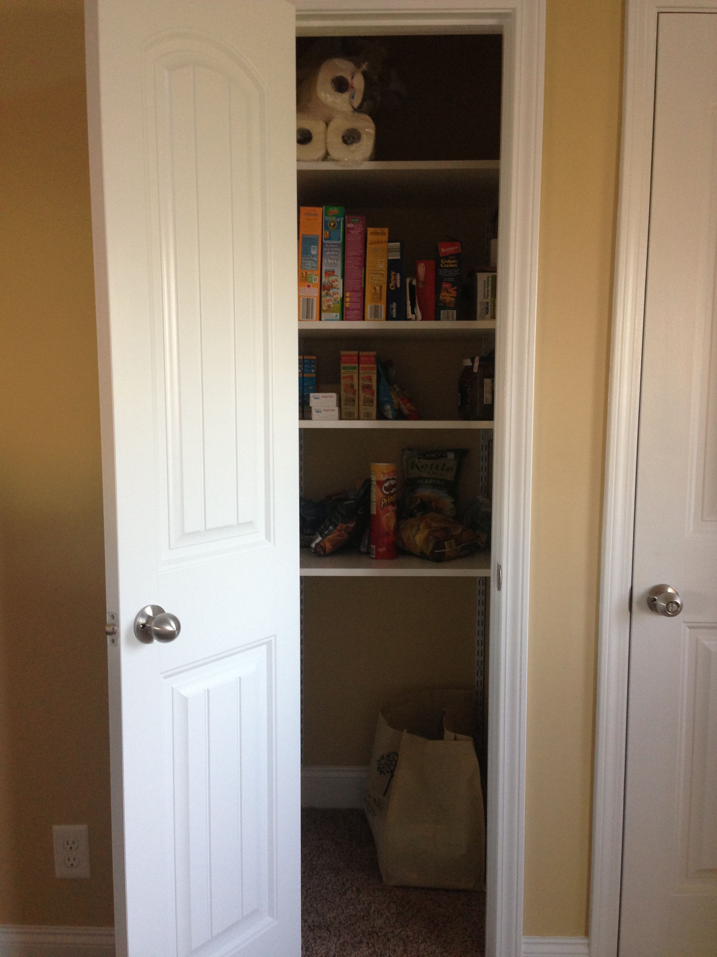 Turned Our Coat Closet Into A Pantry Tall Cabinet