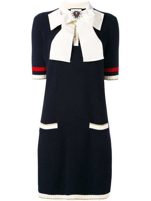 bec2df7d119 GUCCI Bow-Embellished Knitted Dress.  gucci  cloth  dress