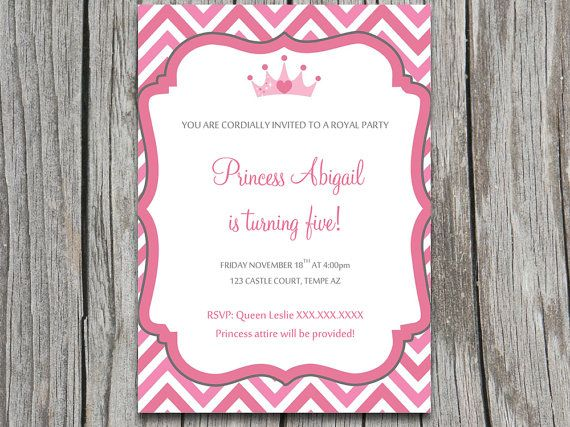 INSTANT DOWNLOAD Royal Princess Party Invite by PaintTheDayDesigns ...