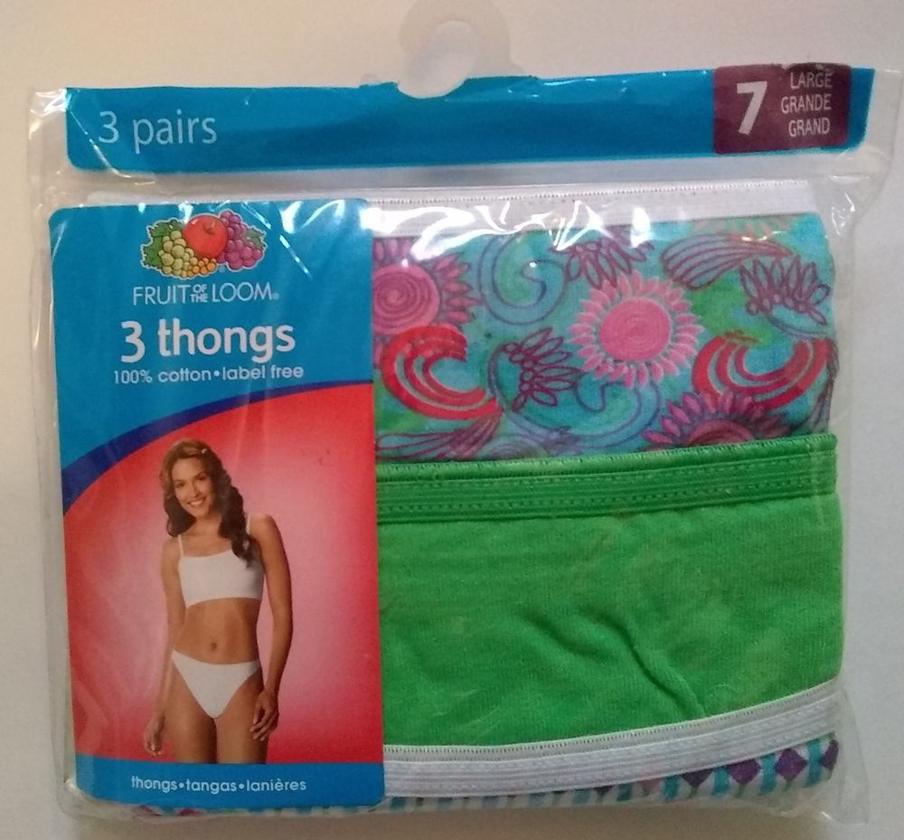 8b48dc8d11eb Two (2) three-packs Fruit of the Loom womens cotton thong panties Size 7  (Large) #fashion #clothing #shoes #accessories #womensclothing  #intimatessleep ...
