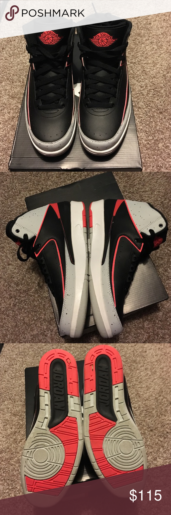 5cf1ff7360 Air Jordan 2 Retro Worn twice. No scratches. No creases. Original packaging.