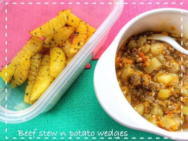 Resep Mpasi Beef Stew N Potato Wedges Oleh Neneng Petirrianty Resep Rebusan Daging Rebusan Resep Makanan Bayi