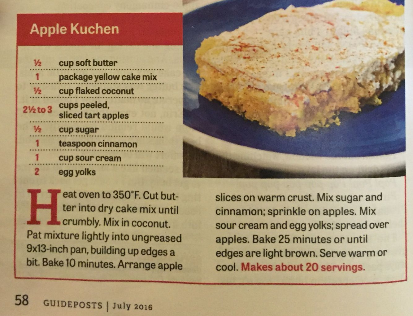 1 up kuchen