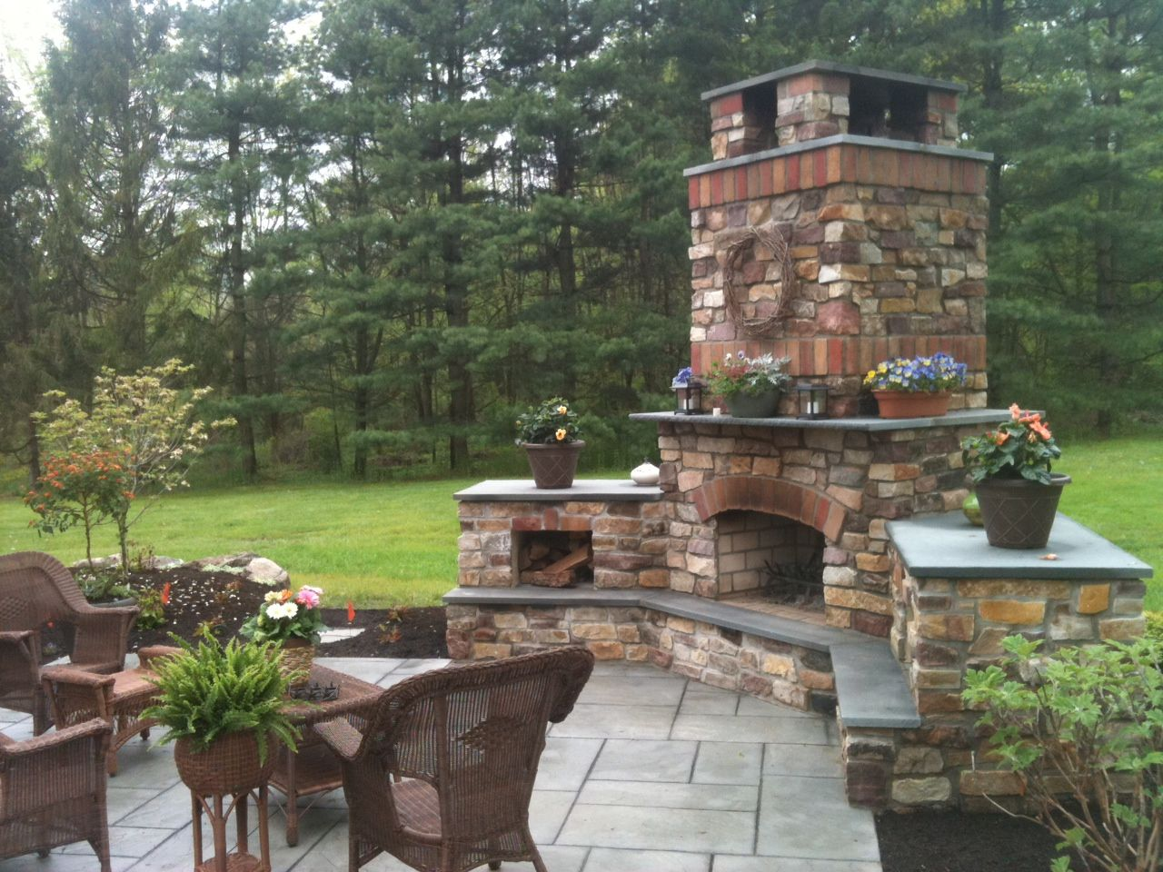 Fireplace Patios Pictures Anchor An Outdoor Living Space