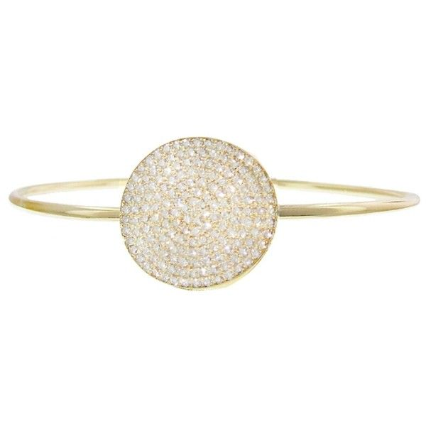 Jennifer Meyer  JENNIFER MEYER   Large Circle Pavé Diamond Bangle... (76 670 SEK) ❤ liked on Polyvore featuring jewelry and bracelets