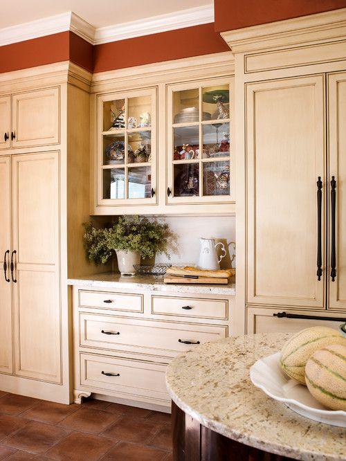Middle Kitchen Buffet White Granite Countertop Kitchen Buffet Kitchen Design Built In Buffet Kitchen Remodel
