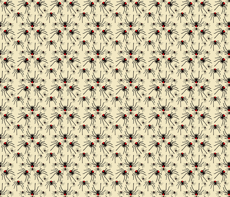 Redback Spider Poison Soup with Cream fabric by craftybuglady on Spoonflower - custom fabric