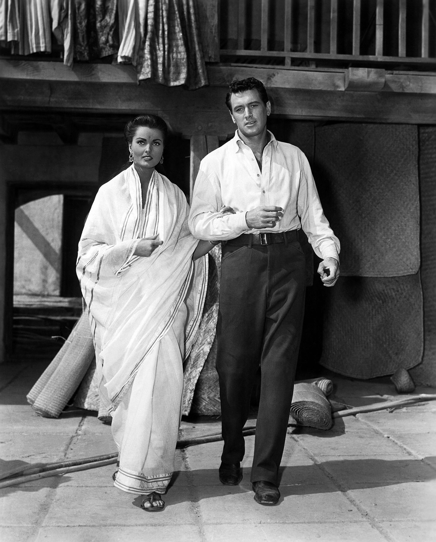 Ursula Thiess and Rock Hudson.