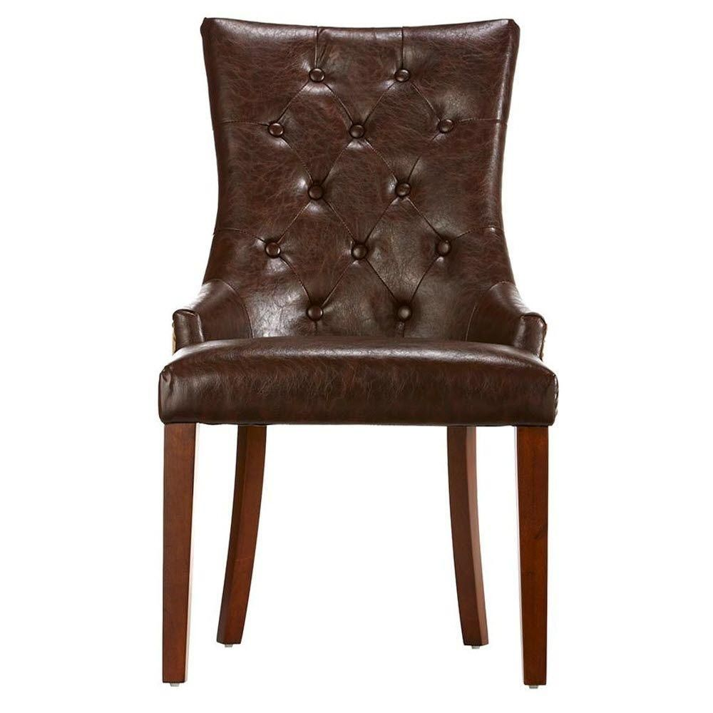 Best Home Decorators Collection Rebecca Brown Leather Tufted 640 x 480