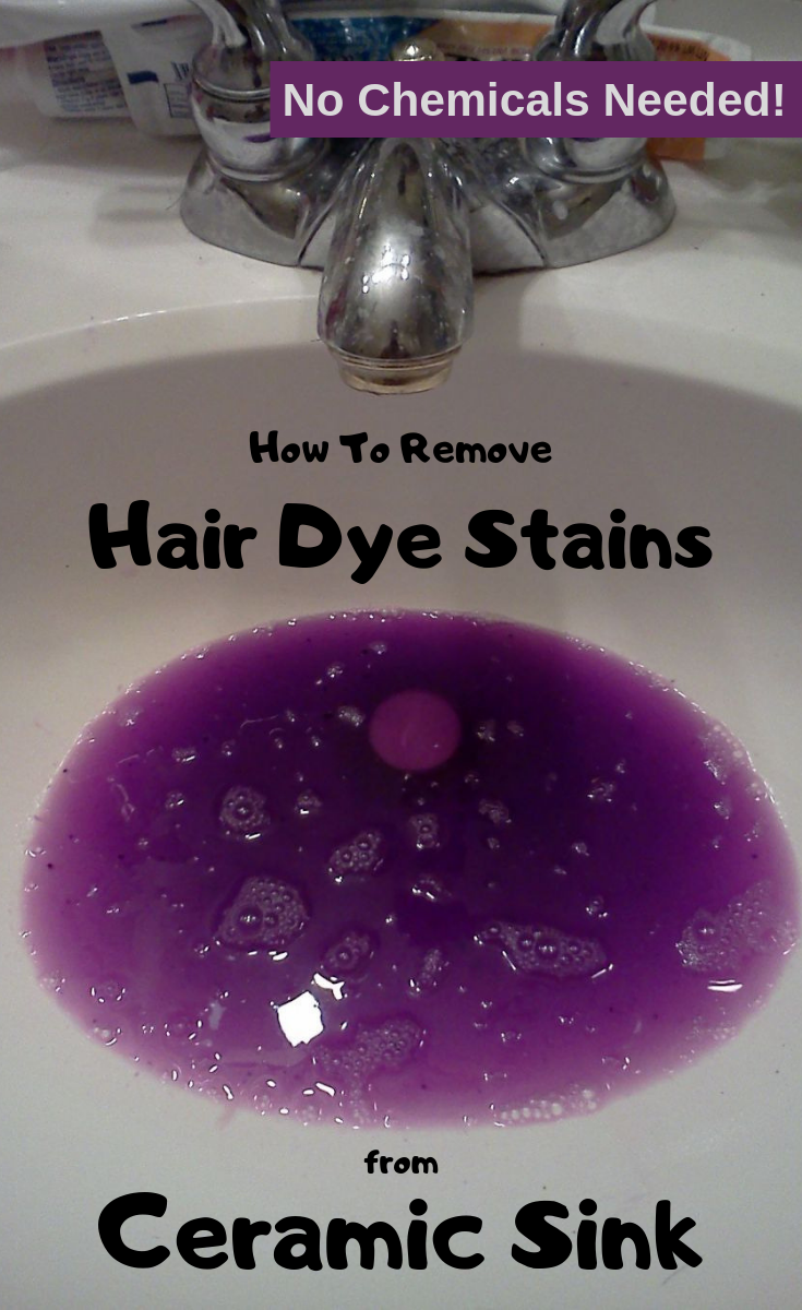 No Chemicals Needed How To Remove Hair Dye Stains From Ceramic Sink Cleaning Ideas Com Hair Dye Removal Ceramic Sink Cleaning Hacks