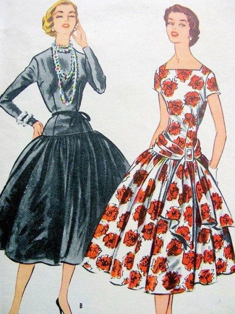 50s McCalls 3100 Grace Kelly Dress Pattern Dress Worn For First ...