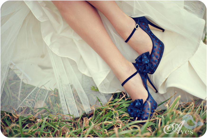 Granatowe Buty ślubne Dark Blue Color Wedding Shoes