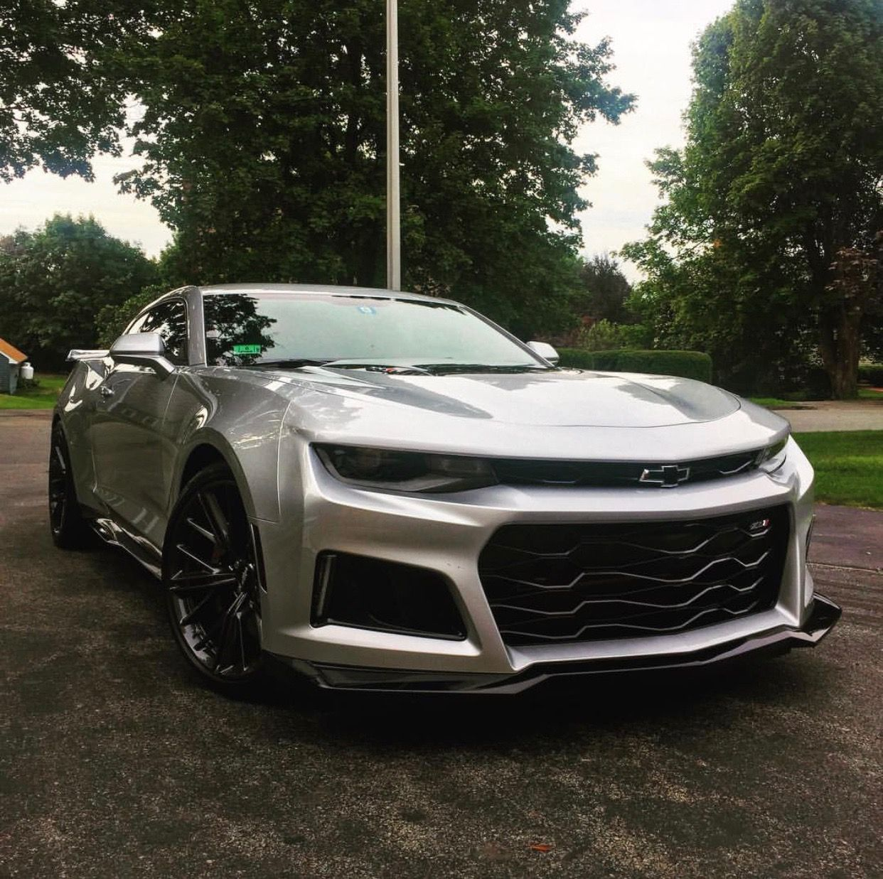 Chevrolet Camaro Zl1 Painted In Silver Ice Metallic Photo Taken By