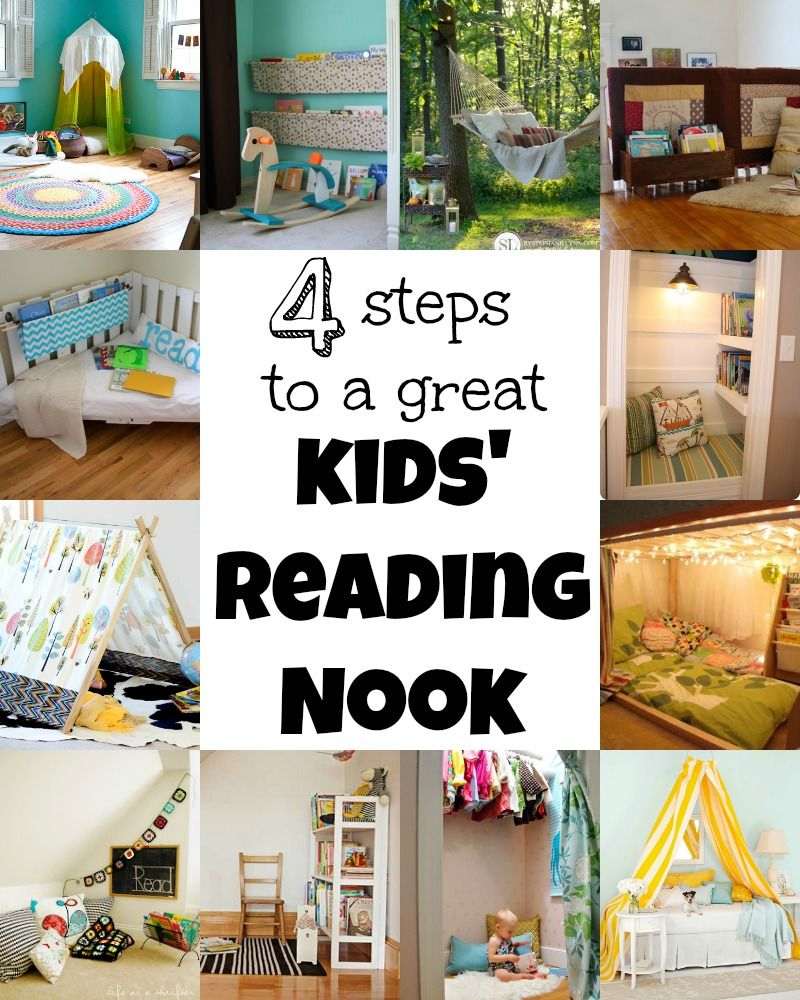 4 Steps To A Great Kids Reading Nook via Tipsaholic.com
