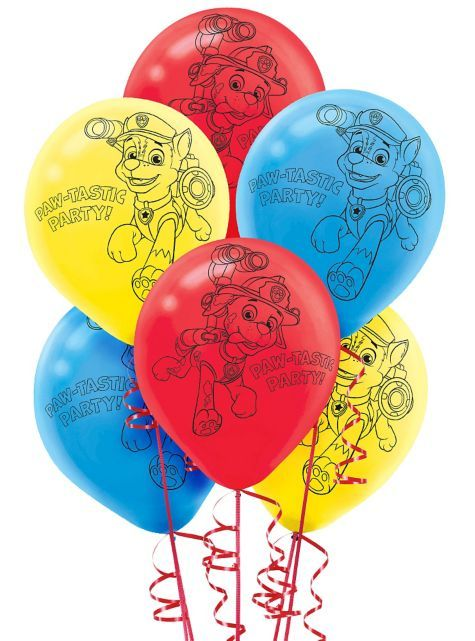 PAW Patrol Balloons 6ct - Party City 2 49 | 2015 pump it up