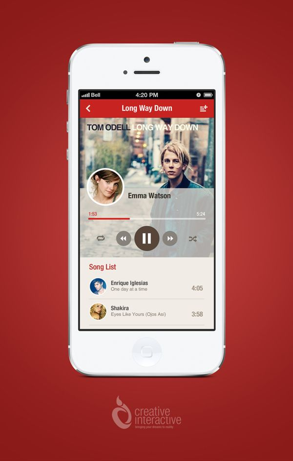 Music App by Reznik Umar, via Behance