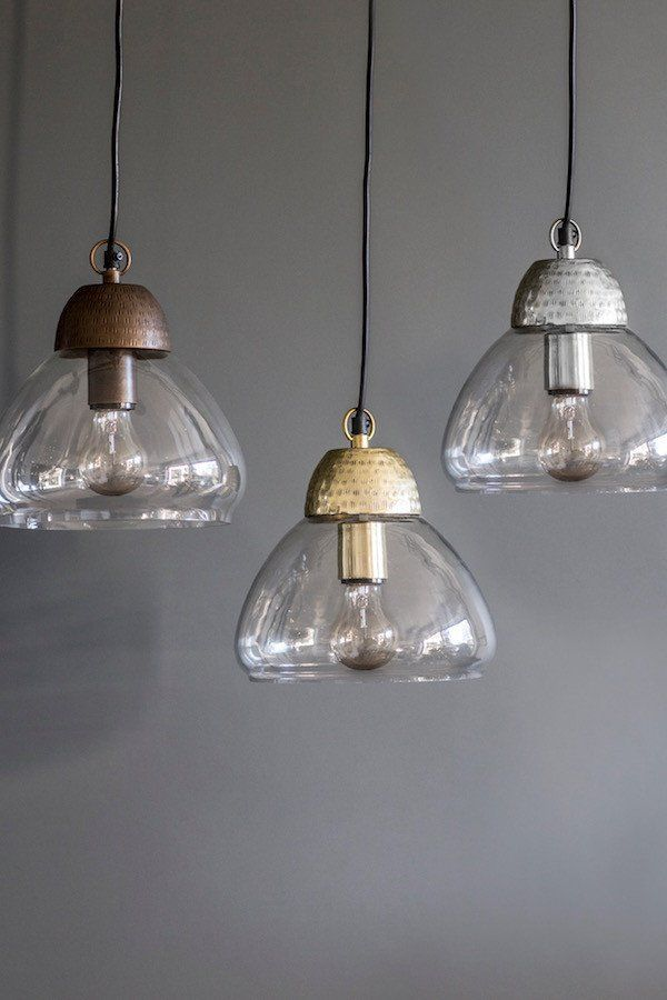 Etched Metal \ Glass Pendant Lights - The Forest \ Co bedroom - lamparas de techo modernas