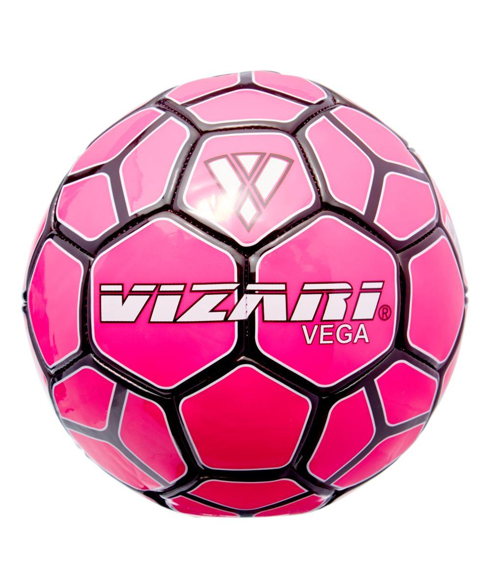 Pink & Black Vega Team Soccer Ball