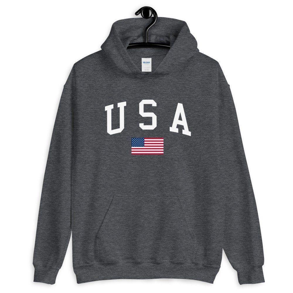 Usa Hoodie Usa Sweatshirt Usa Pullover Sweatshirt American Flag Pullover Hooded Sweatshirt Hoodie In 2020 Sweatshirts Pullover Hooded Sweatshirt Usa Sweatshirt