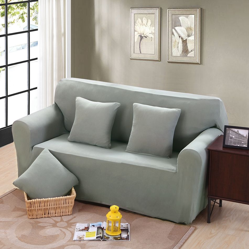 Full Sofa Cover Elastic Stretch L Shaped Sofa Cover Slipcovers For Single  Double Three Four Seat